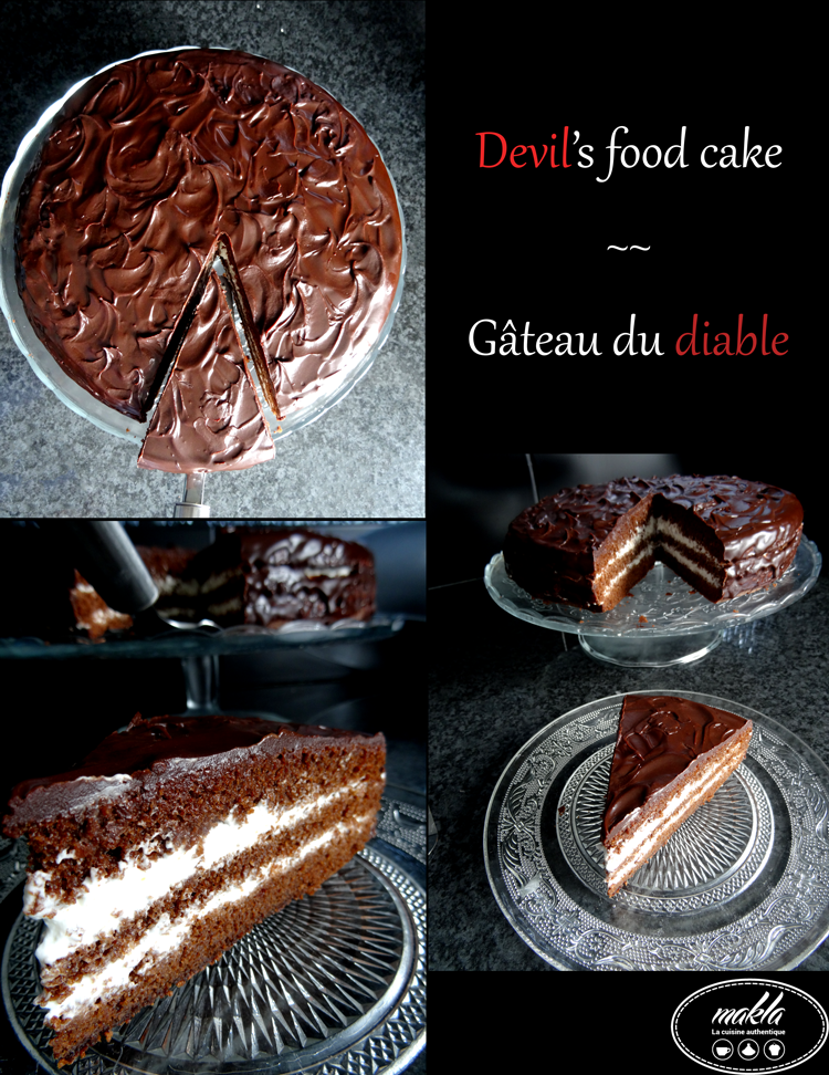 Devil's food cake – Gâteau du diable