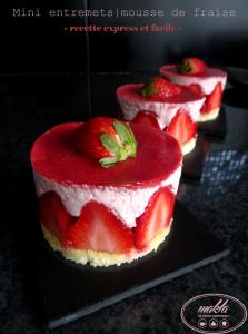 Entremets individuels à la mousse de fraise | Recette express et facile