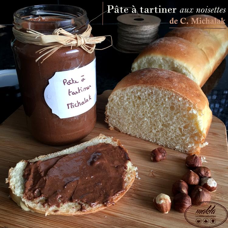 Pâte à tartiner aux noisettes de Christophe Michalak