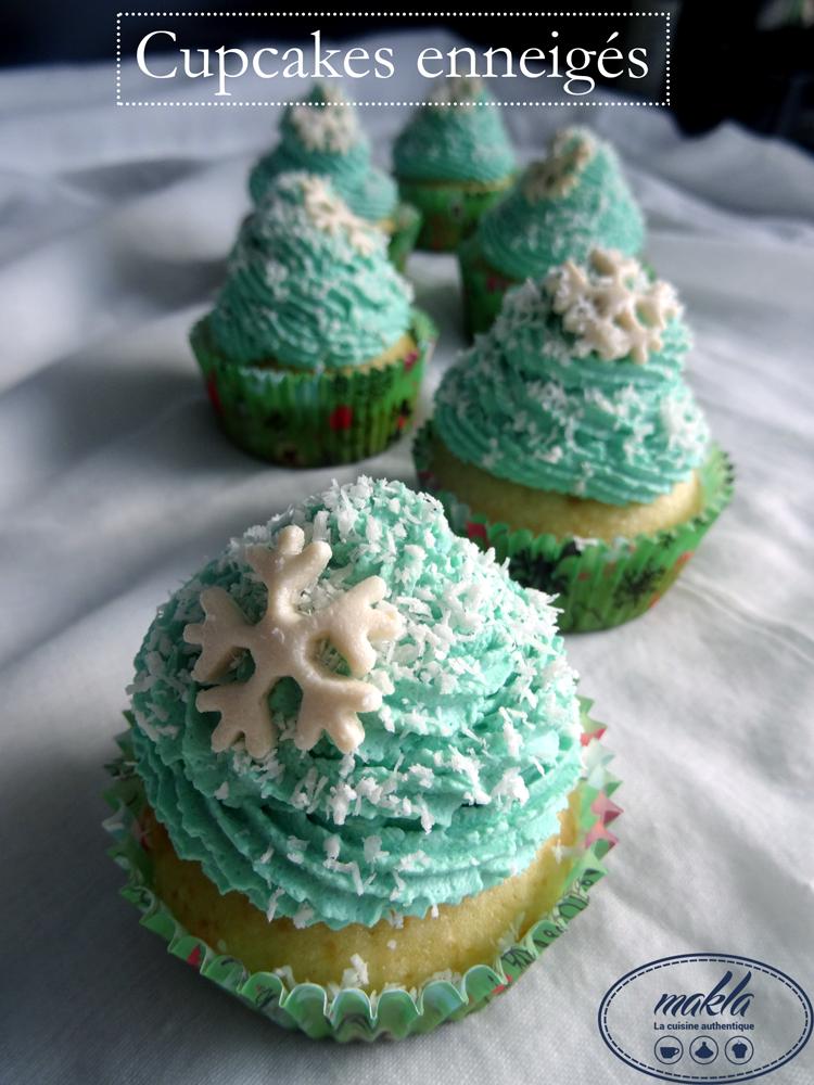 Cupcakes enneigés
