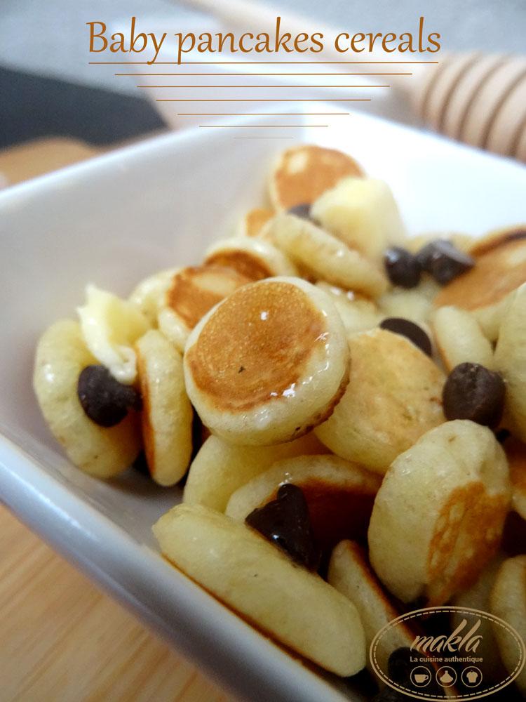 Baby pancakes cereals | Mini pancakes façon céréales