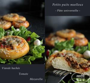 Read more about the article Puits à la viande hachée, mozza, tomate | Pâte universelle
