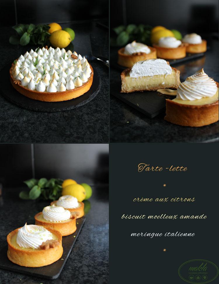 Tarte-lette au citron meringuée