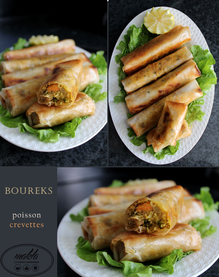 Boureks | Poisson – Crevettes