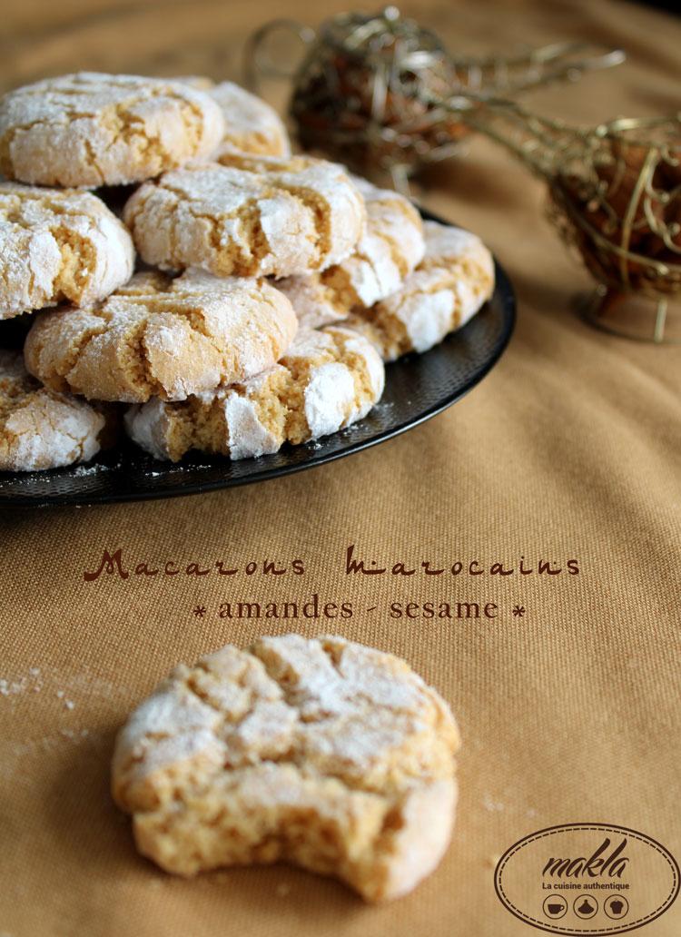 Macarons marocains au sésame et aux amandes