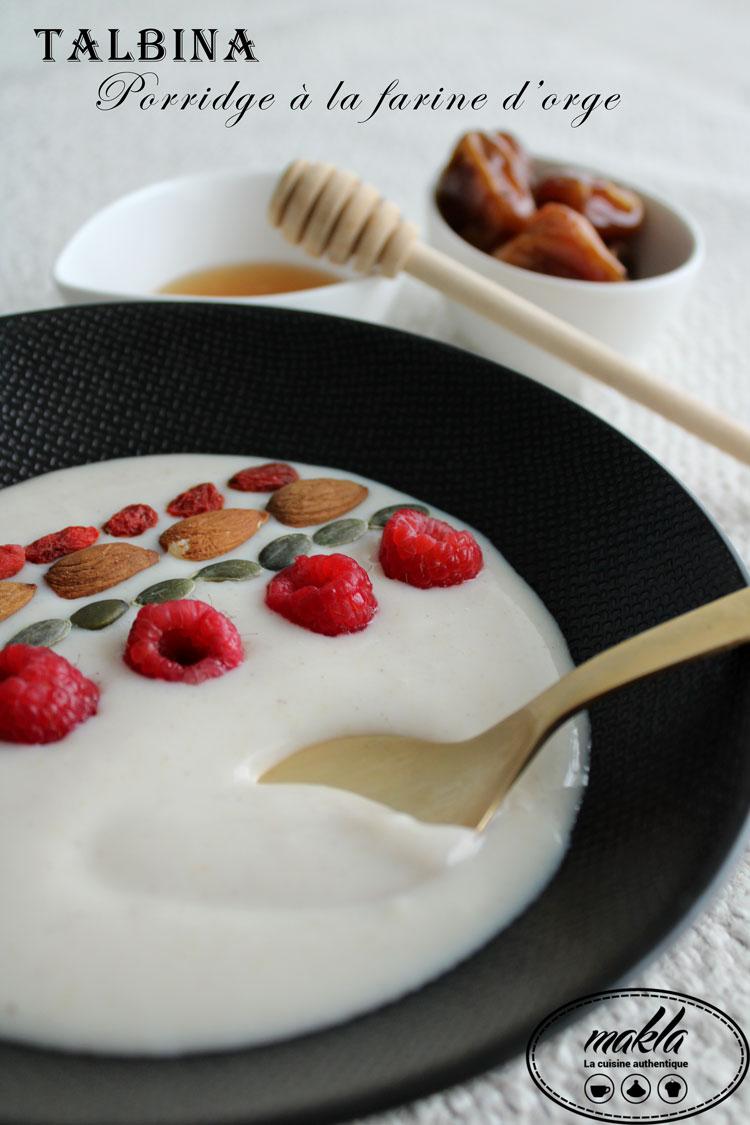 Talbina | Porridge à la farine d'orge