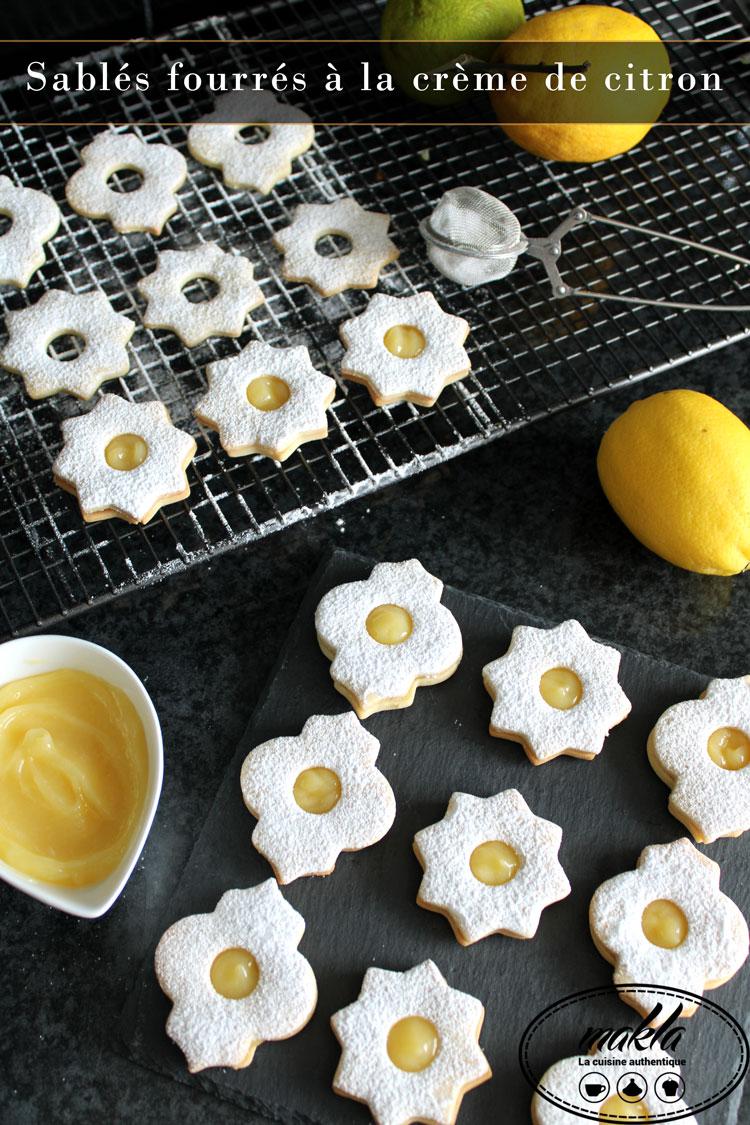 Sablés fourrés à la crème de citron