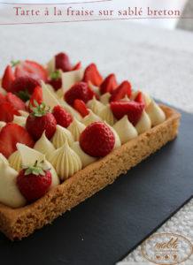Read more about the article Tarte à la fraise sur sablé breton