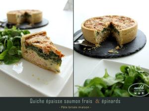 Read more about the article Quiche épaisse | Saumon frais et épinards